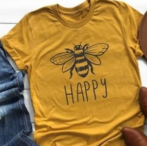 Be Happy graphic tshirt